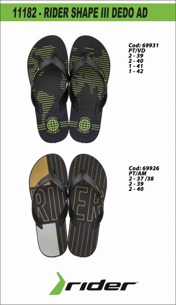 11182 - RIDER SHAPE III DEDO AD - PT-VD e PT-AM
